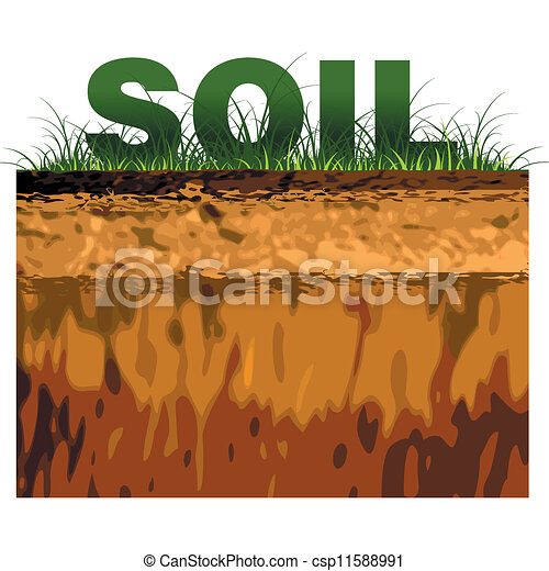 Clip Art Soil Clipart eps vectors of structure soil cut on black csp11588991 search vector soil