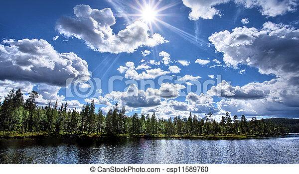 Lake panorama - csp11589760