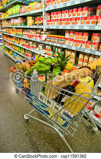 cart in a supermarket