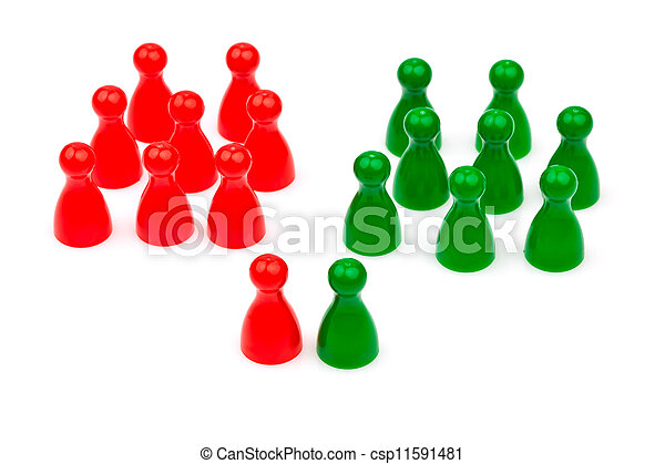 red-green coalition government - csp11591481