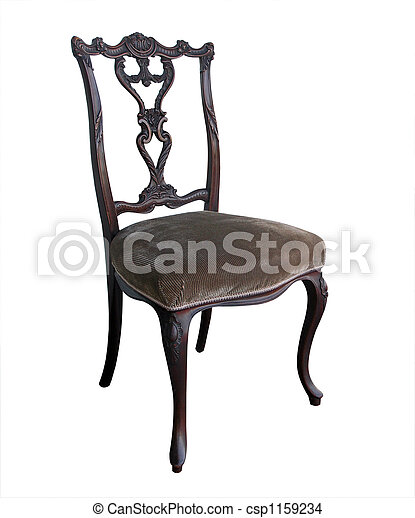 Ornate Antique Chair - csp1159234