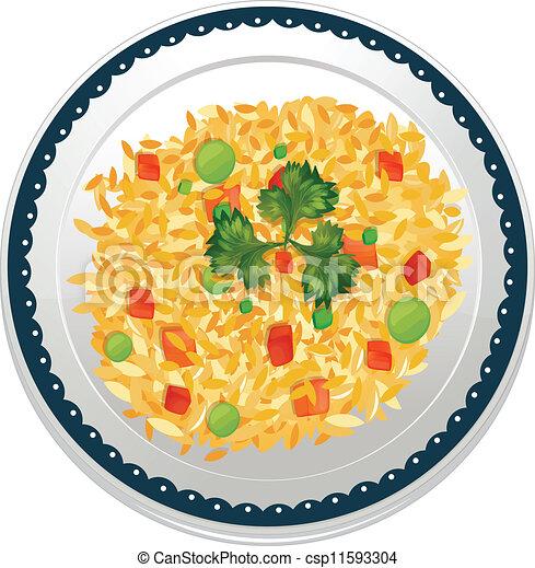 chicken biryani plate png