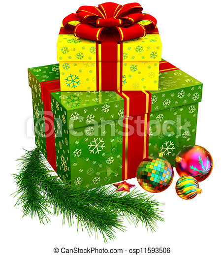 Christmas Tree Toys And Set Of... Stock Illustration ...