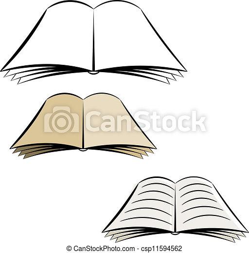 Clip Art Vector of Cartoon open book. eps10 csp11594562 ...