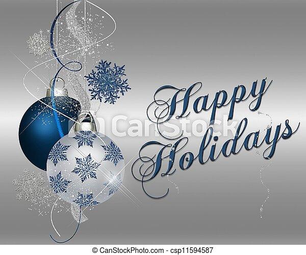 blaues, glücklich, -, feiertage - csp11594587