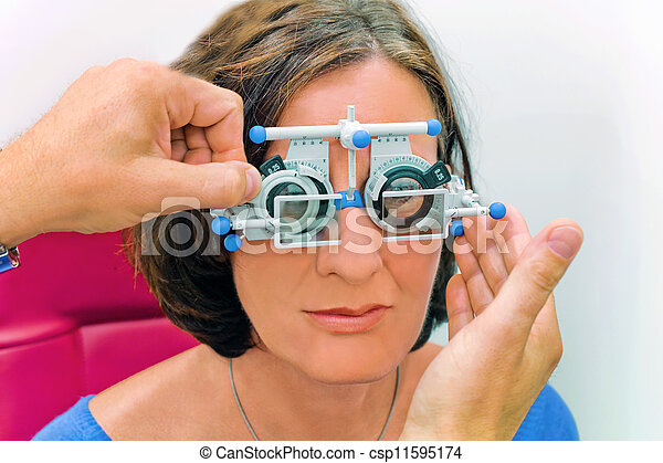 vision test at the optician / eye doctor - csp11595174
