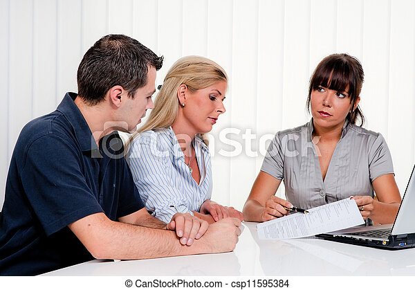 discussion at a consultation - csp11595384