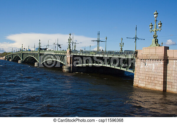 movable bridges on the River Neva. St. Petersburg. Russia. - csp11596368