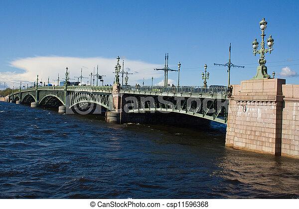 movable bridges on the River Neva. St. Petersburg. Russia. - csp11596368