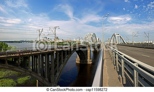 Bridges over the Dnieper River - csp11598272