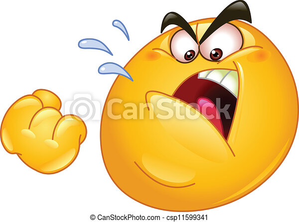 eps vector of threatening emoticon emoticon threatens scared face clip art black and white scared smiley face clip art