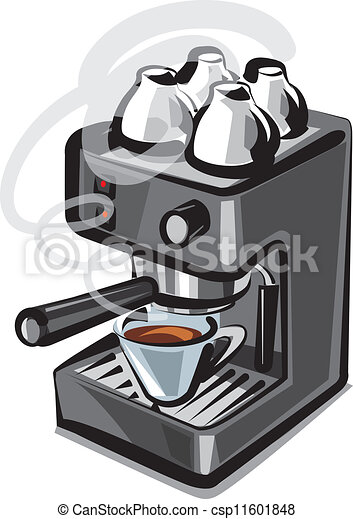 EPS Vector of coffee machine - coffee machine csp11601848 ...