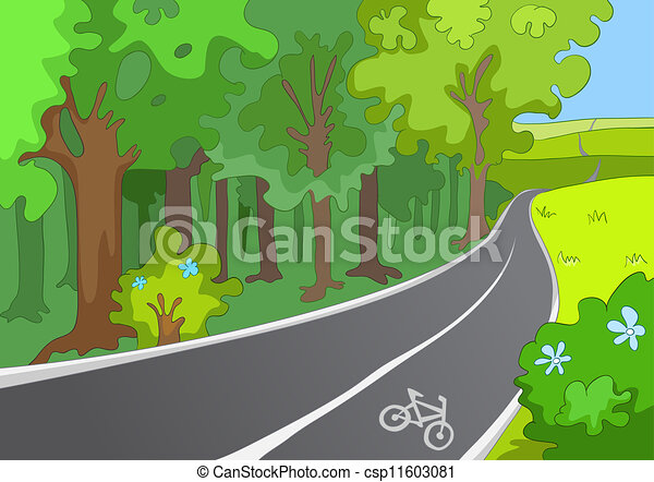 Bicycle Path - csp11603081
