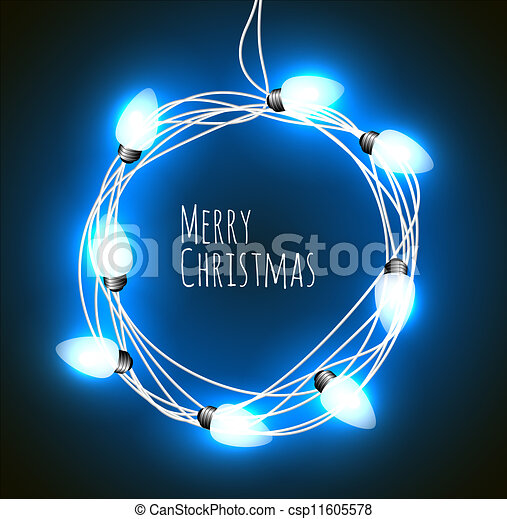 background with christmas lights - csp11605578