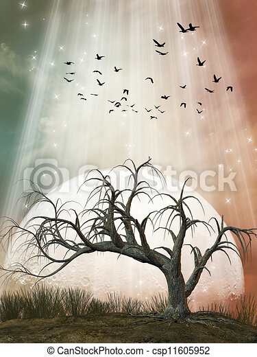 Fantasy Landscape - csp11605952
