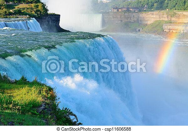 Niagara Falls in the morning - csp11606588