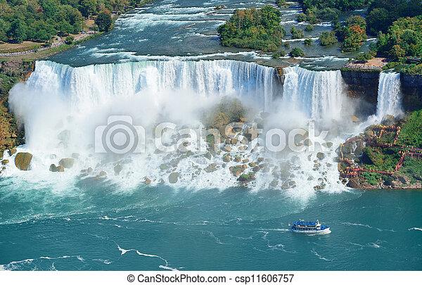 Niagara Falls panorama - csp11606757