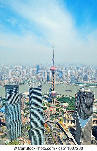Shanghai aerial  - csp11607230