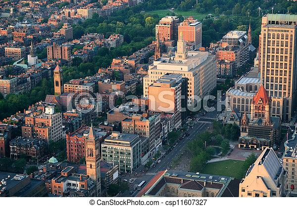 Boston aerial view - csp11607327