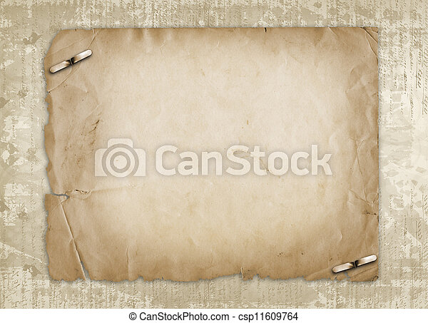 Grunge alienated paper design in scrapbooking style on the abstract background - csp11609764