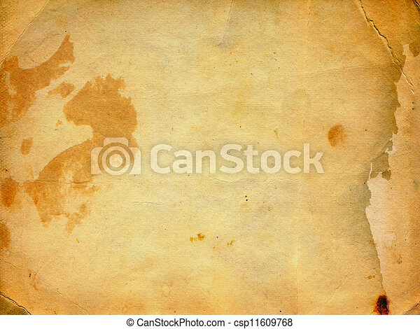 Grunge ancient used paper in scrapbooking style  - csp11609768