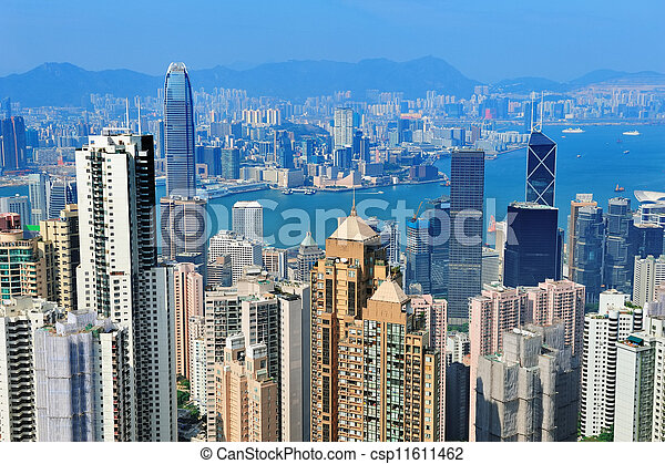 Hong Kong aerial view - csp11611462