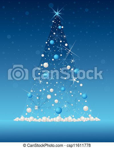 snowflake christmas tree - csp11611778