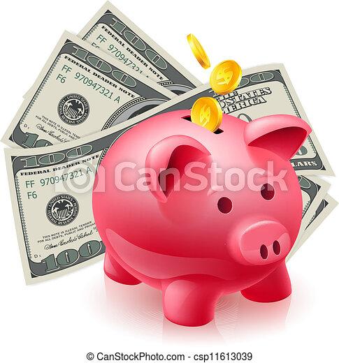 Vecteurs de dollars tirelire cochon moneybox - Tirelire dessin ...