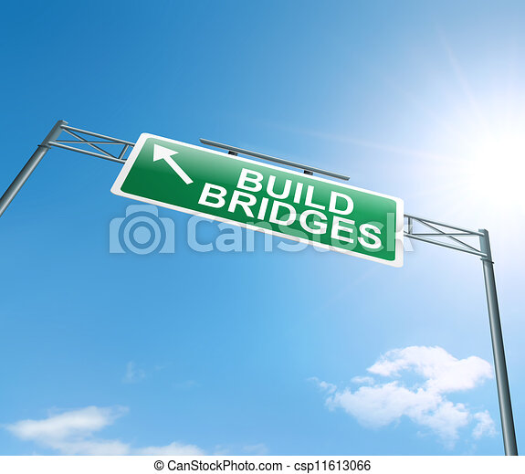 Building bridges. - csp11613066