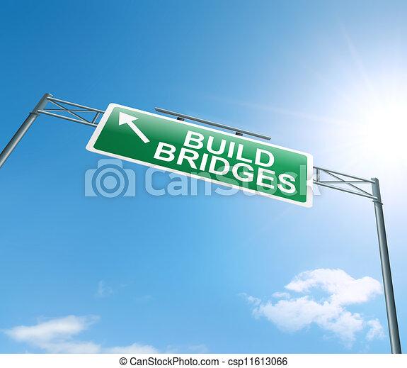 Building bridges. - csp11613066
