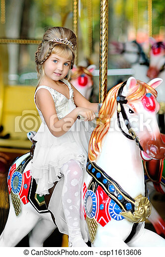 portrait of a Beauty and fashion princess  girl  - csp11613606
