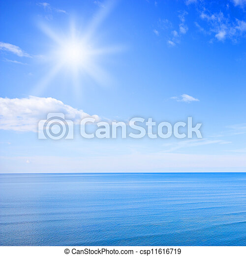 Blue sky and ocean - csp11616719