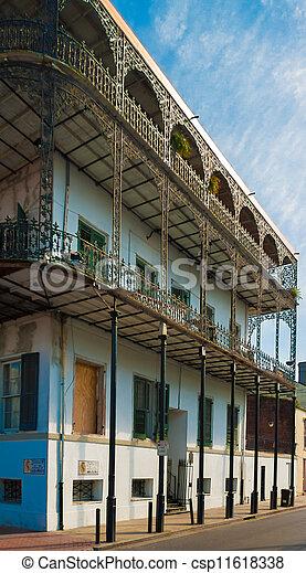 建物, 四分の一, フランス語 - csp11618338