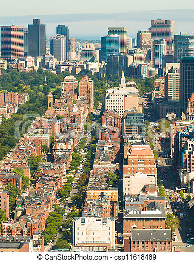 Boston Back Bay aerial - csp11618489