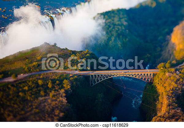 Bridge over Victoria Falls - csp11618629