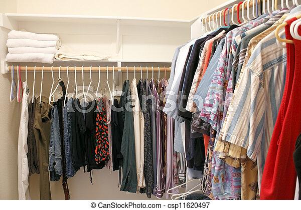 Clothes in a Closet - csp11620497