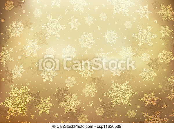Christmas golden abstract background. Vector illustration, EPS10. - csp11620589