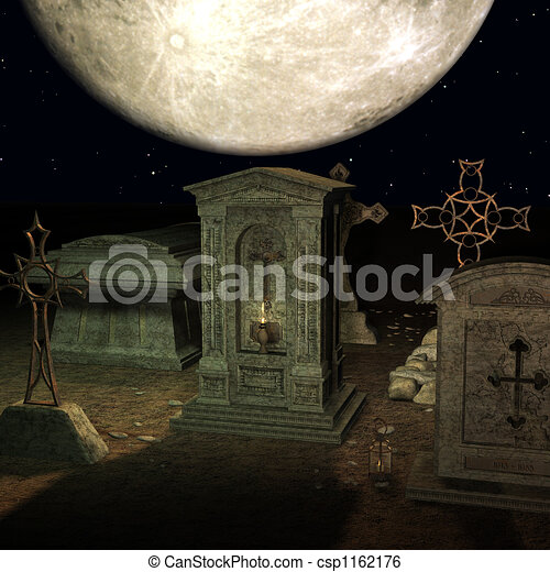 Mystic Cemetery - csp1162176