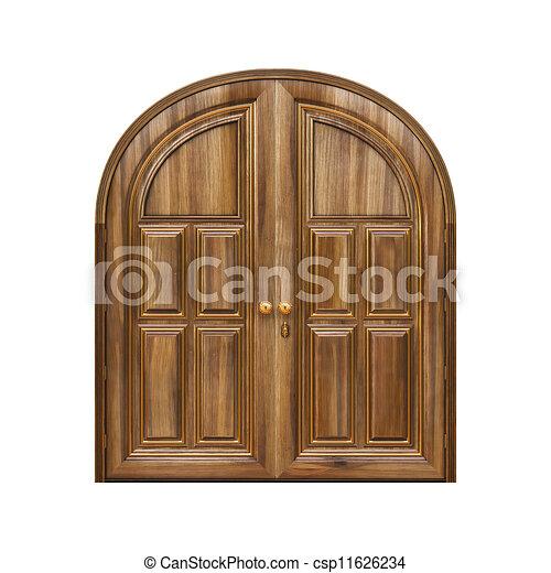 Dibujos de puertas luxury cl sico doors isolated en - Dibujos de puertas ...