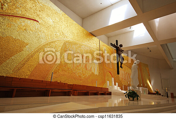 Modern church interior - csp11631835