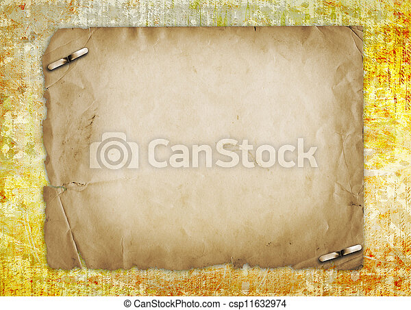 Grunge alienated paper design in scrapbooking style on the abstract background - csp11632974