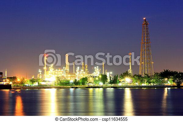 Coastal oil refineries.