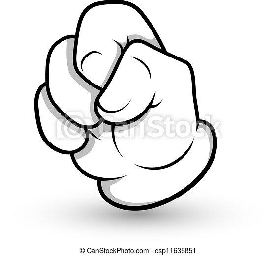 Clipart Vector of Cartoon Hand Gesture - Creative Abstract ...