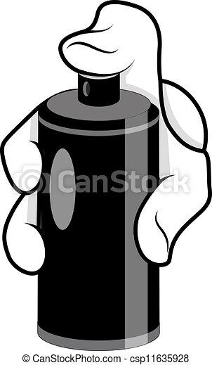Vector illustration of cartoon hand spray vector creative