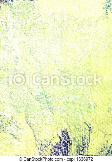 Abstract textured background: blue and green patterns on yellow backdrop