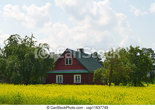 Rural house on the rape - csp11637749
