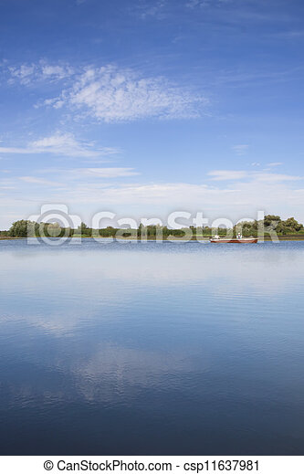 Fishing Boat On A Lake
