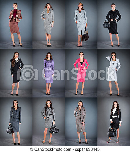 Collection of women's business suits - csp11638445