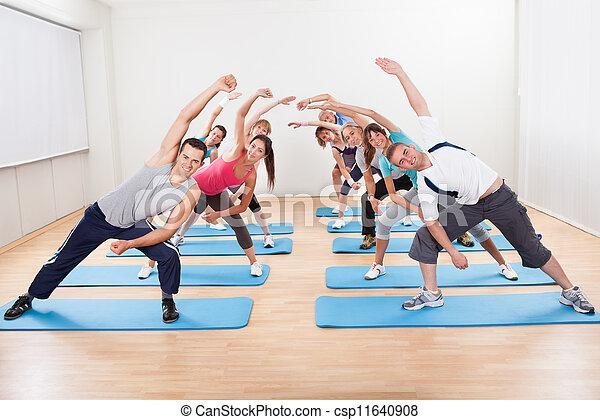 grupo, aeróbica, pessoas - csp11640908