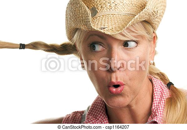 Cowgirl, jogos, tranças - csp1164207